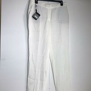 Massimo Dutti Viscose White Slacks New